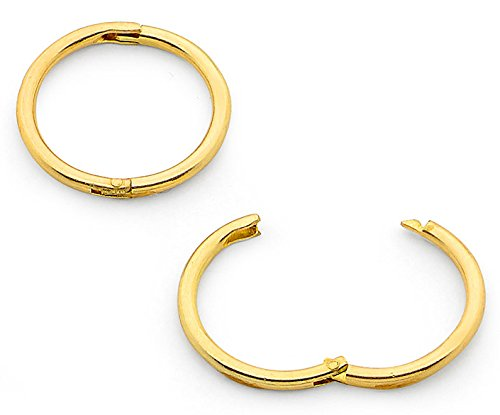 365 Sleepers 1 Pair 22ct Gold Plated Solid Sterling Silver 5/16