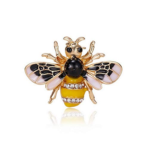 Diamond Bee Pin - SKZKK Gorgeous Jewelry Women's Accessories for Women Painted Bee Enamel Lapel Pin Diamond Insect Cute Pins Yellow