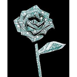 origami Money rose flower 10 real $1 dollar bills Graduation valentine unique Gift 48