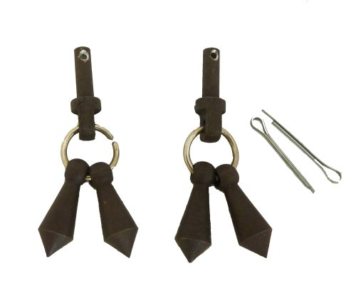 Spurs Bob Jingle - Jingle Bobs with Cotter Key Pins for Mens Western Spur Parts Antique Brown