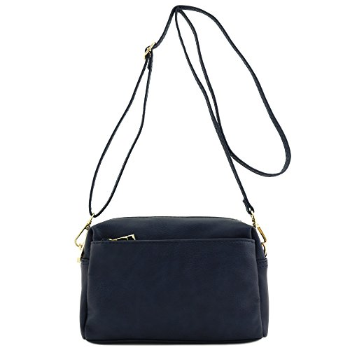 Triple Small Navy Crossbody Zip Bag wFwHSf