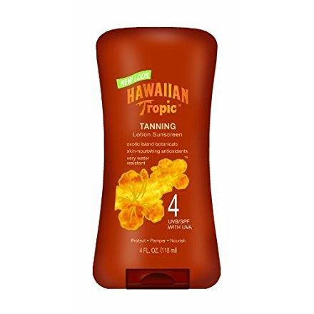 Hawaiian Tropic Dark Tanning Lotion - SPF 4, 4-Fluid Ounce Bottle (Pack of 2)