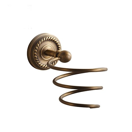 Hardwareh Vintage Antique Bronze Patina Full Bathroom Rack Pendant European Hairdryer Framemodern Simple And Durable Home Decoration Classic Quality Assurance