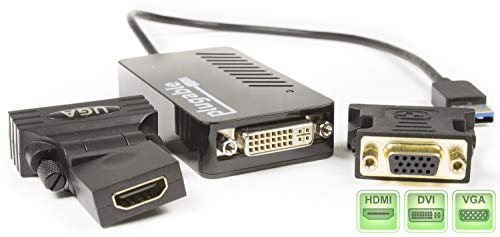 Plugable USB 3 0 to HDMI\DVI\VGA Video Graphics Adapter for