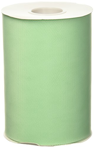 BBCrafts Mint Polyester Tulle Roll 6 inch 100 Yards