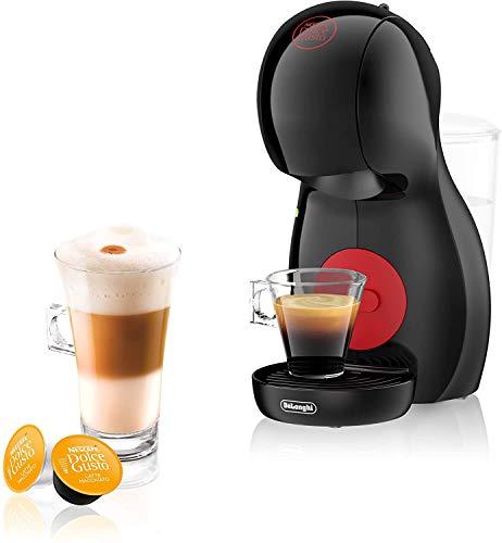 Dolce Gusto Piccolo XS EDG210.B Cafetera de cápsulas, 15 bares de presión, diseño compacto, Steel, Negro