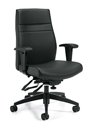 OTG2913 Black Leather Luxhide Managers Multi-Tilter Chair