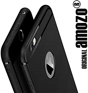 amozo soft silicone with anti dust plugs shockproof slim back cover case for apple iphone 6