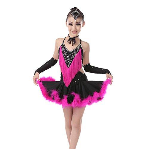 QCBC Kinder lateinische Tanz-Kostüm-Kleid Adult Samba Performance ...