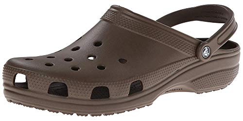 Crocs Men's and Women's Classic Clog, Comfort Slip On Casual Water Shoe, Lightweight, Chocolate, 12 US Women / 10 US Men