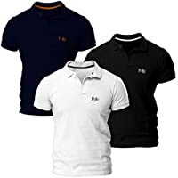 Kit com Três Camisas Polo Piquet Regular Fit Polo Match