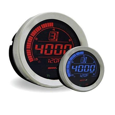 Koso BA051100 Tachometer (Silver Bezel,Hd-02R Harley-Davidson 4'')