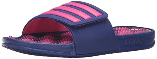 adidas Performance Women's Adissage 2.0 Stripes W Athletic Sandal, Unity Ink/Shock Pink/Shock Pink Silver, 9 M US