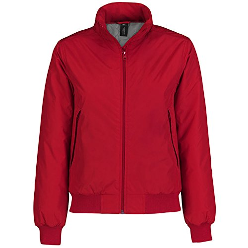 B&C Collection - Chaqueta - para mujer Red/ Warm Grey Lining
