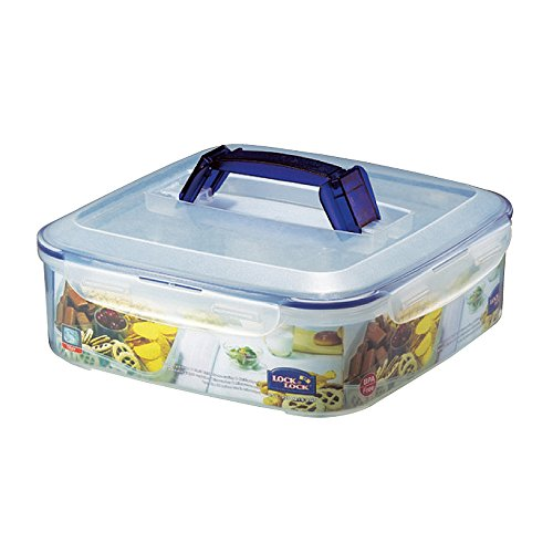 LOCK & LOCK Appetizer & Dessert Square Food Storage Container with Handle 219.79-oz / 27.47-cup ()