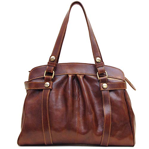 Floto Milano Shoulder Bag in Vecchio Brown Italian Calfskin Leather