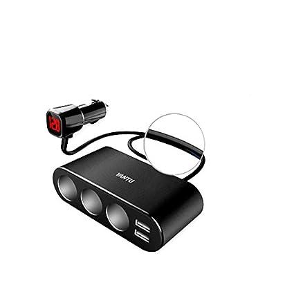 Amazon.com: YANTU B08 - Cargador de coche con 2 puertos USB ...