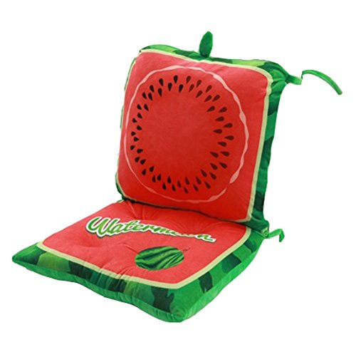 Fruit acolchada mecedora cojines Plush Stuffed Respaldo de Asiento Cojín Set Pad con los lazos desmontable para niños Kid...