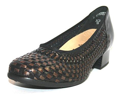 Think! - Zapatos con correa de tobillo Mujer Schwarz (schwarz/bronce 00142)