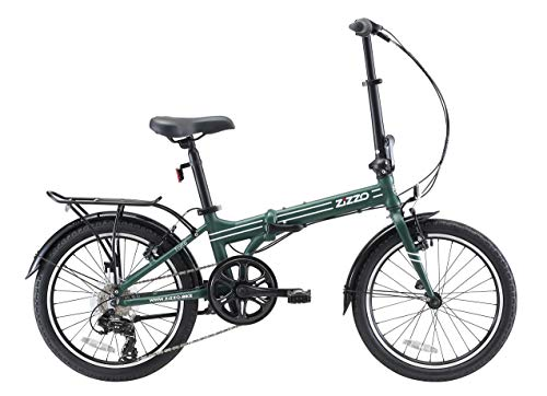 EuroMini ZiZZO Heavy Duty Forte 28lb Folding Bike-Lightweight Aluminum Frame Genuine Shimano 7-Speed 20