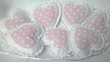 Kinderzimmer Decor Ideen Baby Pink und Weiß Polka Dot Herz ...