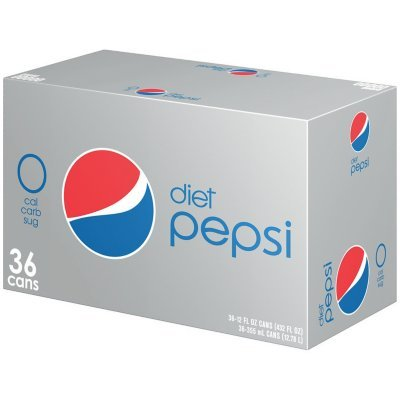 Diet Pepsi Cola - 36/12 oz. cans (4 Pack) by Diet Pepsi Cola