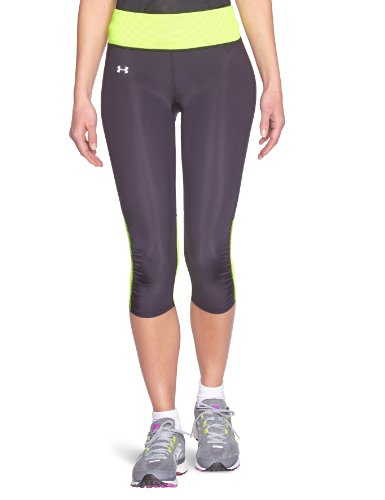 Women's UA Fly-By Compression Capri Bottoms by Under Armour Small Black