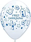 "Single Source Party Supplies - 11"" First Communion Boy Latex Balloons Bag of 10"