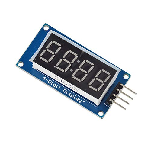Muccus TM1637 LED Display Module for 7 Segment 4 Bits 0.36Inch Clock RED Anode Digital Tube Four Serial Driver Board Pack: Amazon.com: Industrial & ...