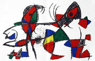 Joan Miro - Original Lithograph X From Miro Lithographs II, Maeght Publisher by Joan
