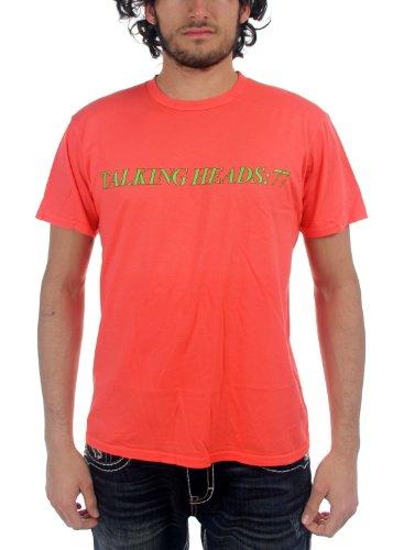 Talking Heads - Mens 77 T-Shirt in Salmon, Medium, Salmon ()