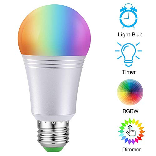 Smart LED Light Bulb, WiFi Light Bulb LSXD Color Changing Light Bulb 6000K Dimmable Smartphone Controlled Daylight White Night Light, No Hub Required, Works with Amazon Echo Alexa Google Home A19