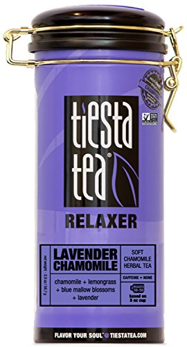- Tiesta Tea Lavender Chamomile, Soft Chamomile Herbal Tea, 50 Servings, 2 Ounce Tin, Caffeine Free, Loose Leaf Herbal Tea Relaxer Blend, Non-GMO