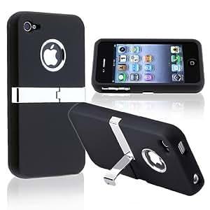Neu LOTTIES funda con el caso del soporte efecto cromo para iPhone 5s - Negro & películas de protección
