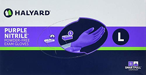 Health Purple Nitrile Exam Gloves, Large, 100 Count (3 Boxes)