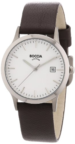 Boccia B3180-01 Ladies Titanium Brown Leather Strap Watch