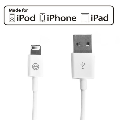 OPSO Apple MFi Certified Lightning Cable to USB Charger Cord for iPhone(5/5S/5C), iPad(Air/4th Generation), iPad Mini/Mini Retina, iPod Touch 5th Generation and iPod Nano 7th Generation(3.3 Feet White)