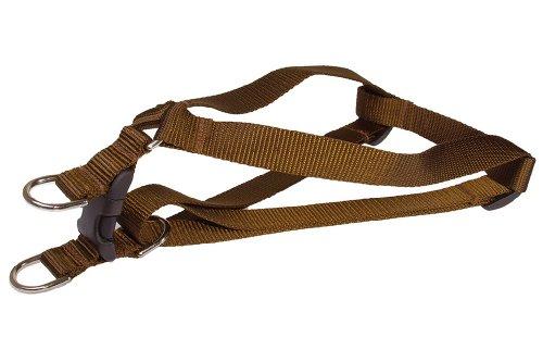 Sassy Dog Wear 23-35-Inch Brown Nylon Webbing Dog Harness, Large