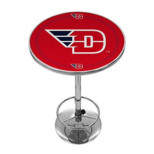 NCAA University of Dayton Chrome Pub Table by Trademark Gameroom