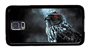 Hipster top Samsung Galaxy S5 Case hawk red eye PC Black for Samsung S5