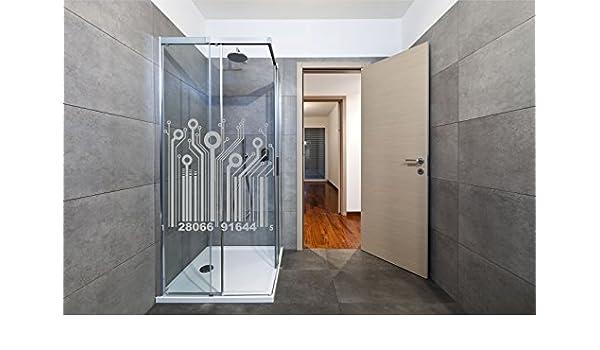 Vinilo acido arenado mod. CODIGO DE BARRAS para mampara de baño,cristal,ventanas... 80X80cm: Amazon.es: Hogar