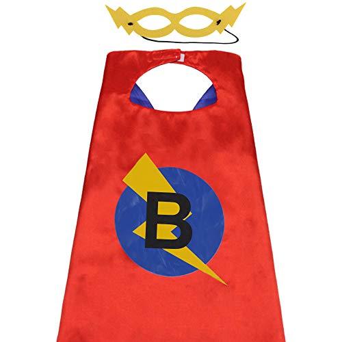 Superhero Capes for Adults, Cape Superhero Adult, Adult Superhero Capes for Women, Superhero Clothes Adults Custom Name Initial Cape Large Size - Cape B -