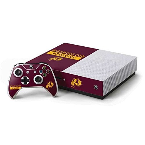 Washington Redskins Controller Xbox - Skinit NFL Washington Redskins Xbox One S Console and Controller Bundle Skin - Washington Redskins Maroon Performance Series Design - Ultra Thin, Lightweight Vinyl Decal Protection