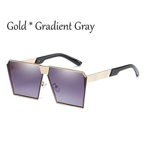 C2 Silver Tonos G Silver Vintage Gold Enormes De Gafas Damas 17 C8 De Hombre Sol Cuadradas Gafas Gray Estilos TIANLIANG04 Unas Mujer Uv356 Sol UaqpWHR