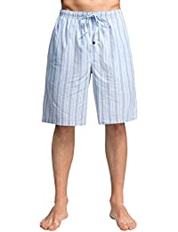 CYZ Men's 100% Cotton Plaid Woven Pajama Shorts Lounge Shorts Sleep Shorts