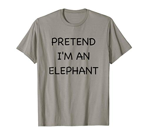 Lazy Elephant Shirt Funny Easy Fast Halloween Costume Animal