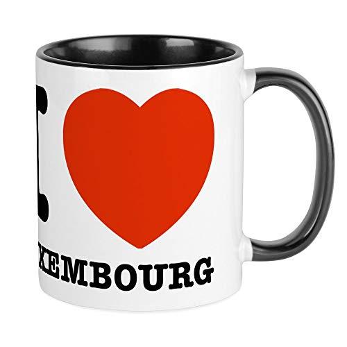 CafePress I Love My Luxembourg Mug Unique Coffee Mug, Coffee Cup