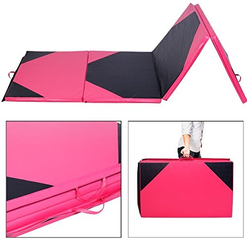 K&A Company Mat Folding Panel Gymnastics Gym Exercise Yoga Fitness Thick Tumbling 4' x 10' x 2""