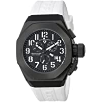 Swiss Legend Men's 10542-BB-01-WA Trimix Diver Chronograph Black Dial White Silicone Watch