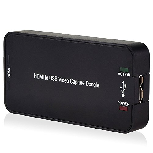 DigitNow! HDMI Video Capture with USB3.0/2.0 in 1080P , Record Card Box Capture PC, HD Media Player, Xbox ect for Windows7, 8, 10 System